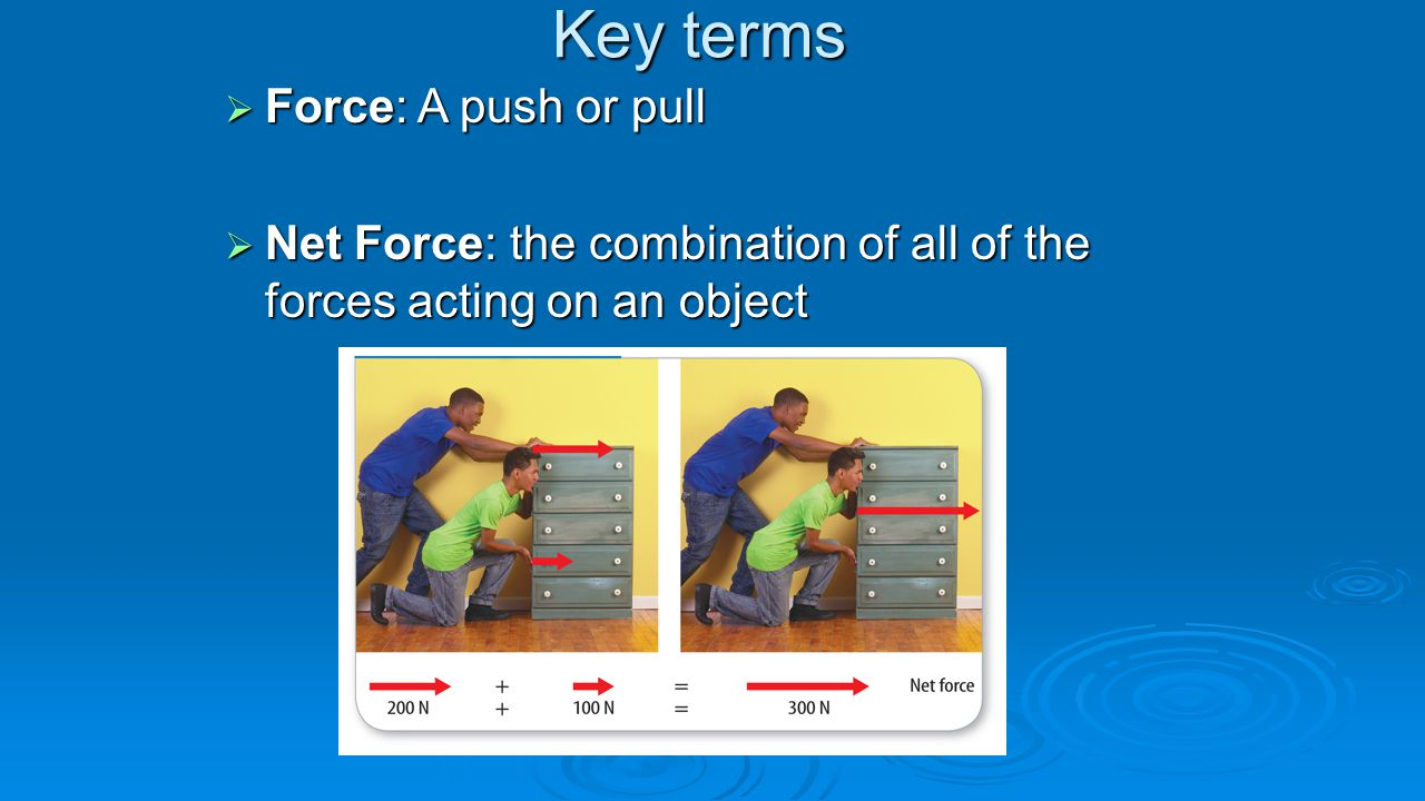 Key terms Force: A push or pull