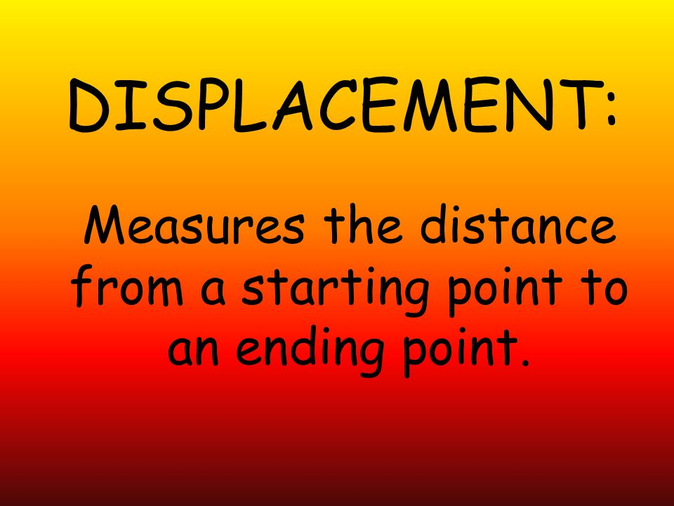 Measures the distance from a starting point to an ending point.