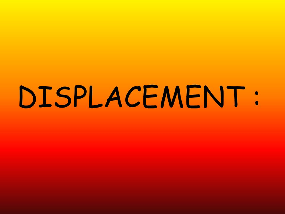 DISPLACEMENT :