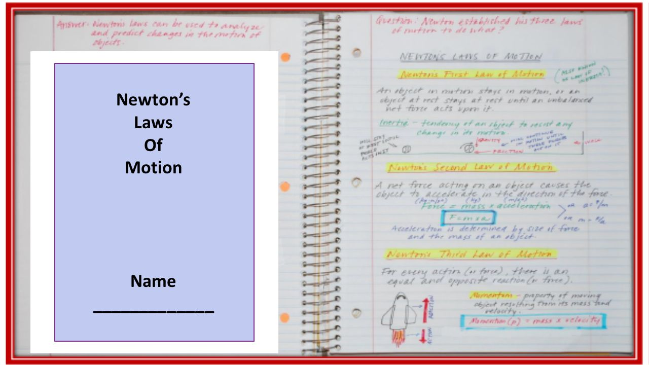 Newton's Laws Of Motion Name _____________