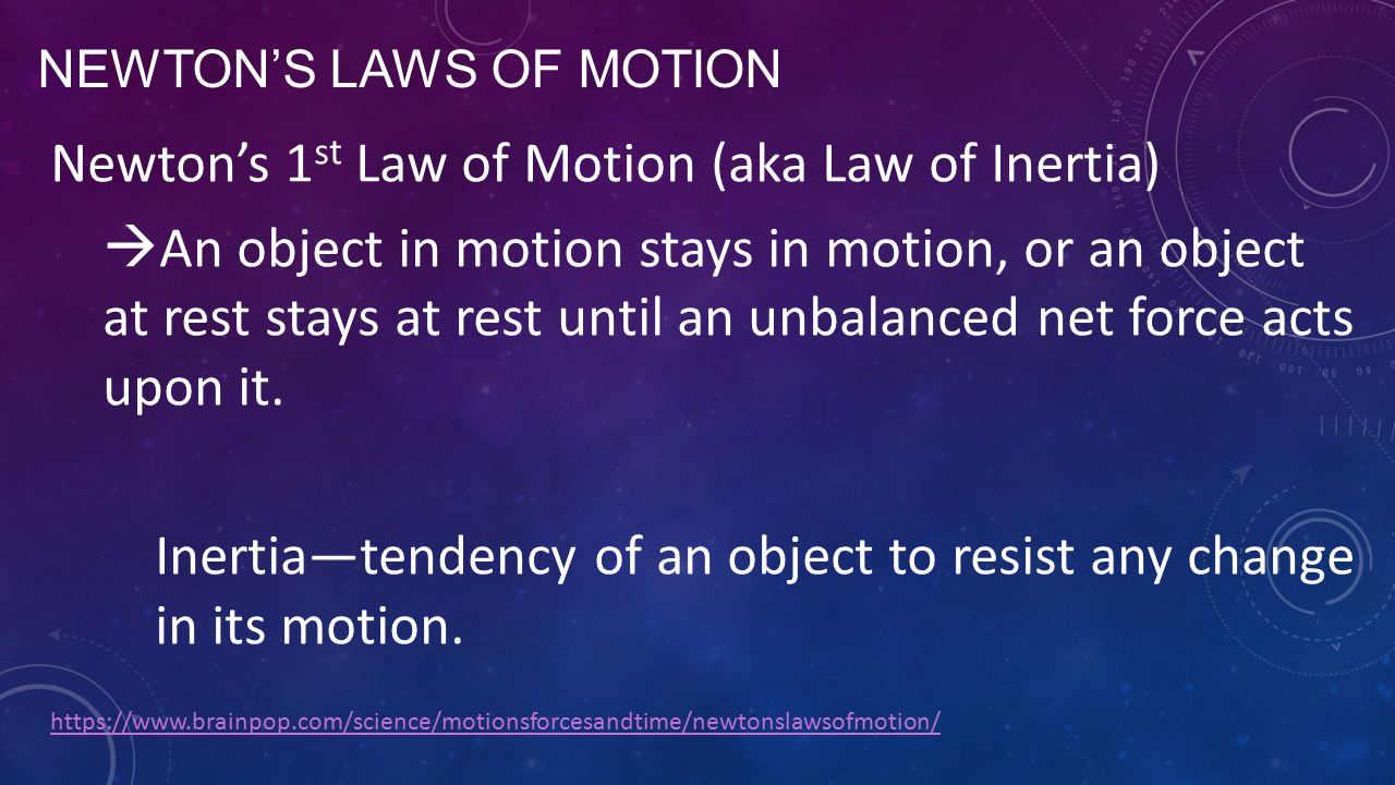 Newton's Laws of motion