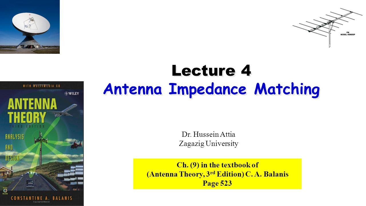 Lecture 4 Antenna Impedance Matching