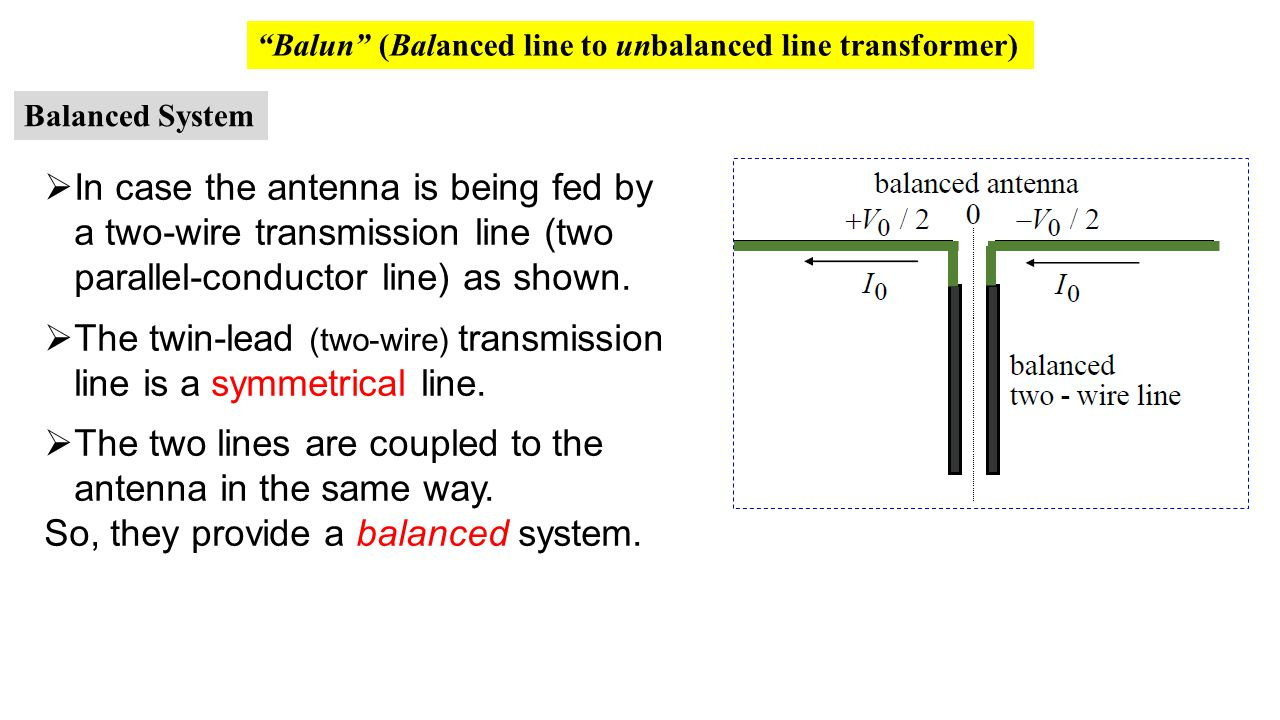 The twin-lead (two-wire) transmission line is a symmetrical line.