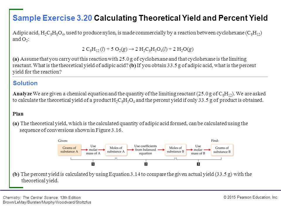 2 C6H12 (l) + 5 O2(g) → 2 H2C6H3O4(l) + 2 H2O(g)