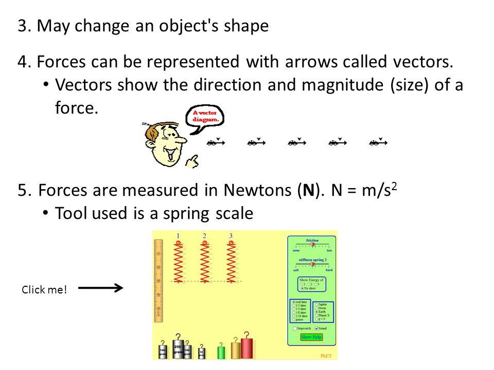 3. May change an object s shape