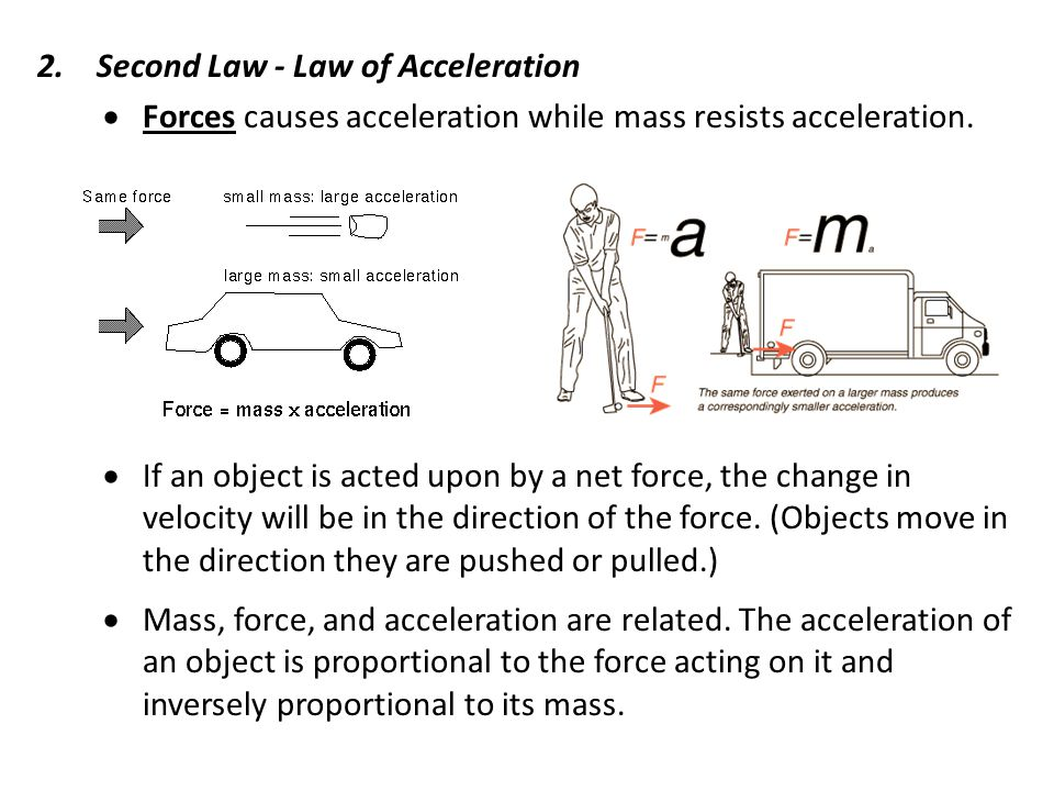 Second Law - Law of Acceleration