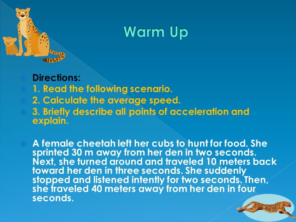 Warm Up Directions: 1. Read the following scenario.