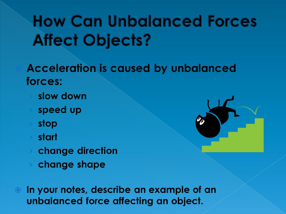 How Can Unbalanced Forces Affect Objects