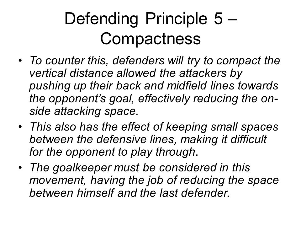 Defending Principle 5 – Compactness