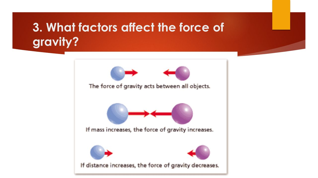 3. What factors affect the force of gravity