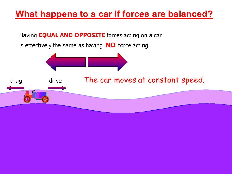 What happens to a car if forces are balanced