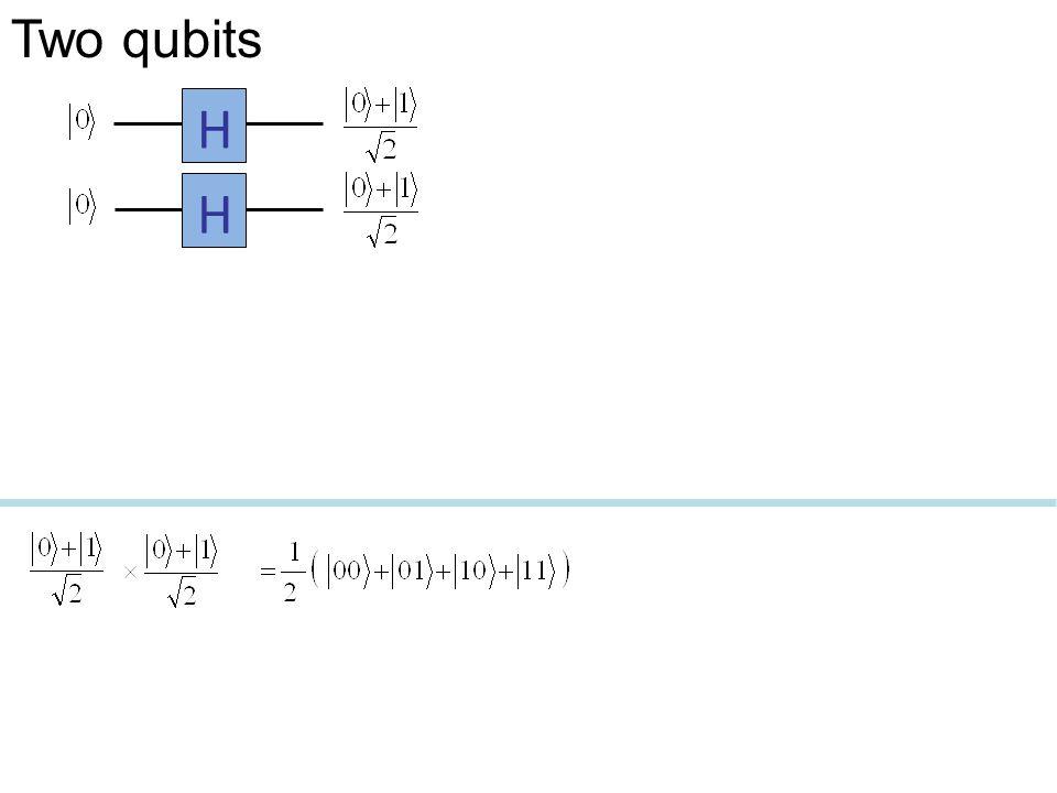Two qubits H H