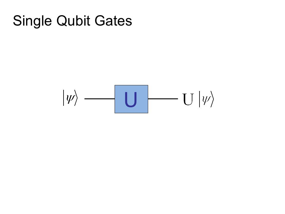 Single Qubit Gates U
