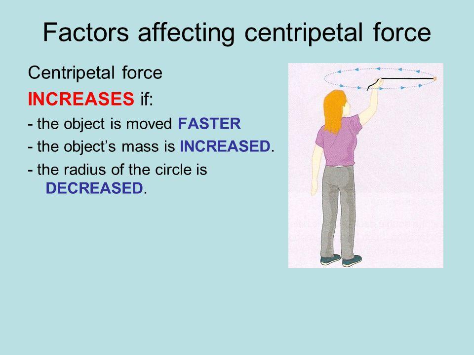 Factors affecting centripetal force