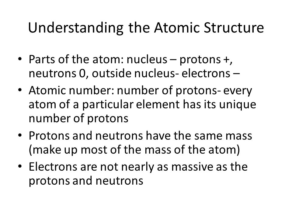 Understanding the Atomic Structure