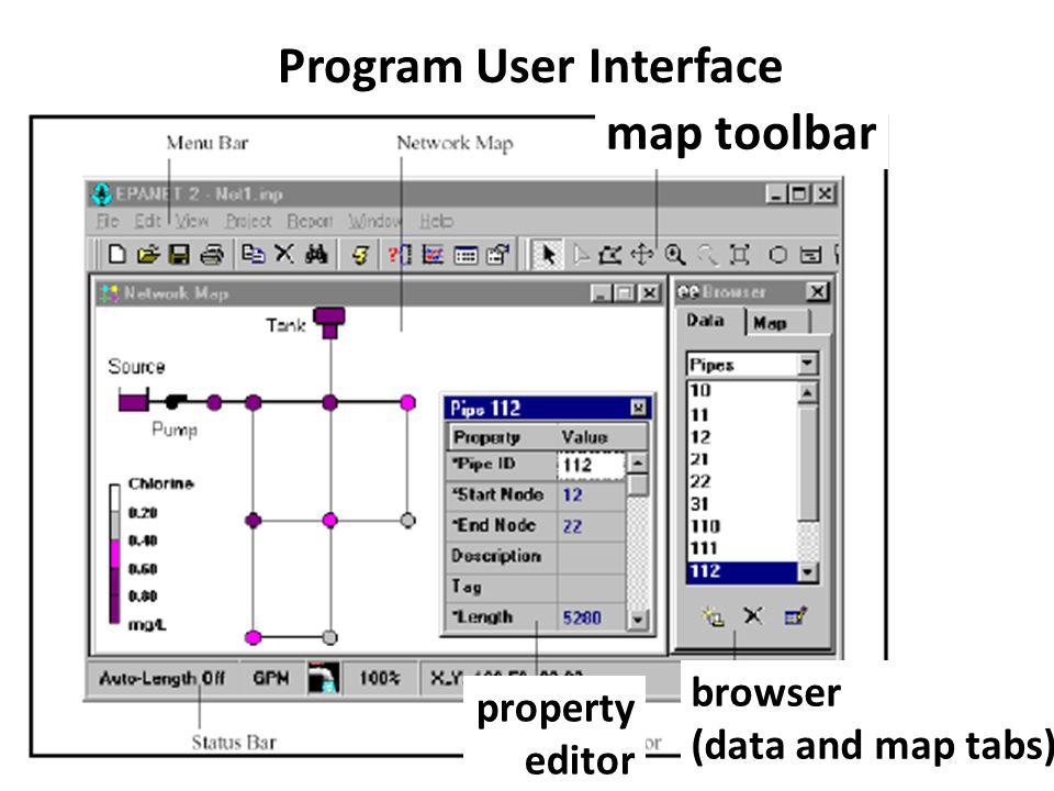 Program User Interface map toolbar