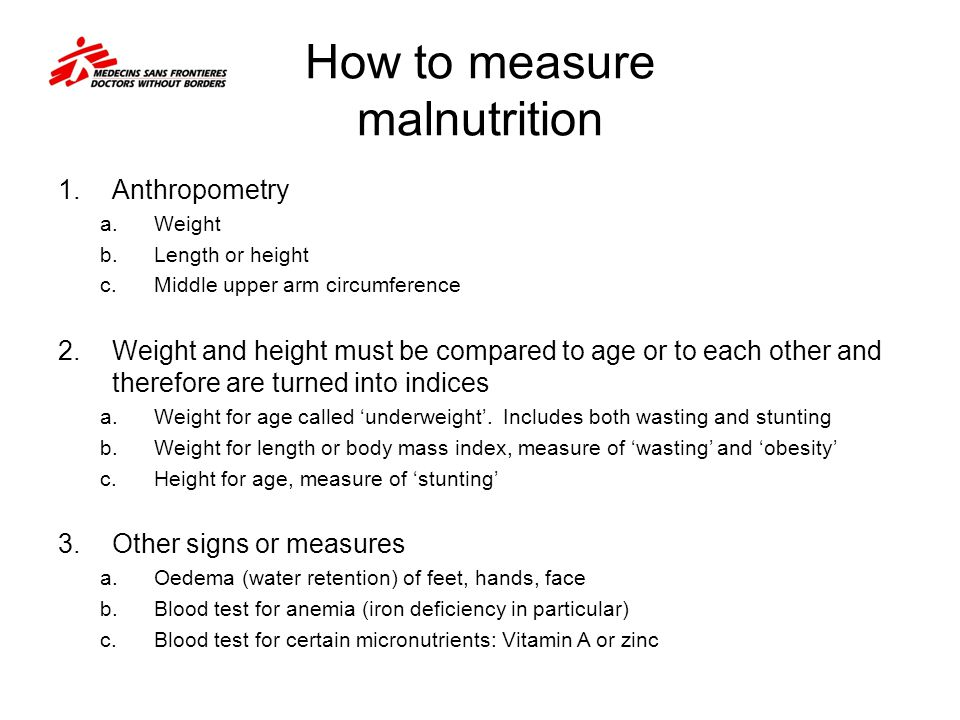 How to measure malnutrition