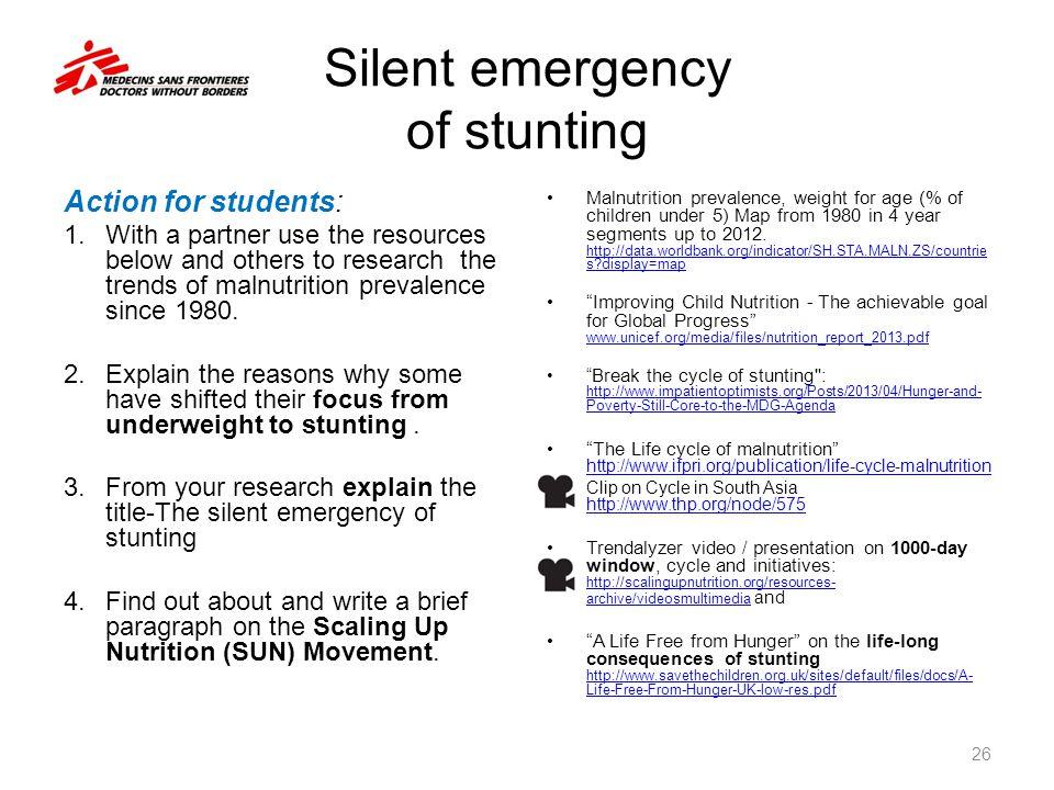 Silent emergency of stunting