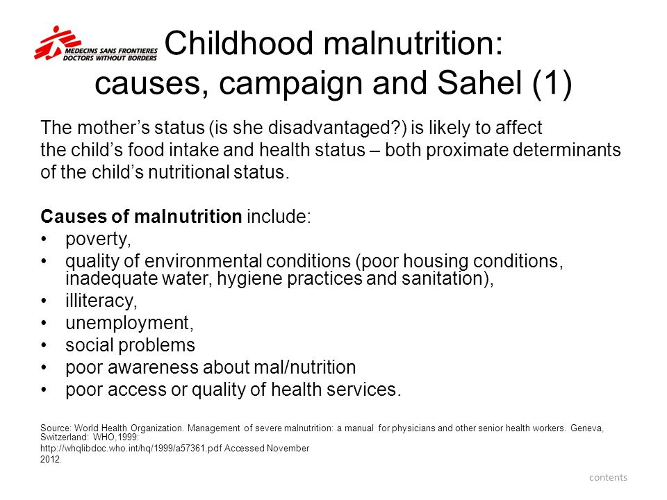 Childhood malnutrition: causes, campaign and Sahel (1)