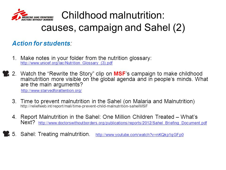 Childhood malnutrition: causes, campaign and Sahel (2)