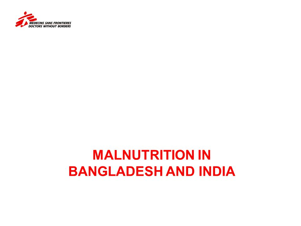 Malnutrition in Bangladesh And India