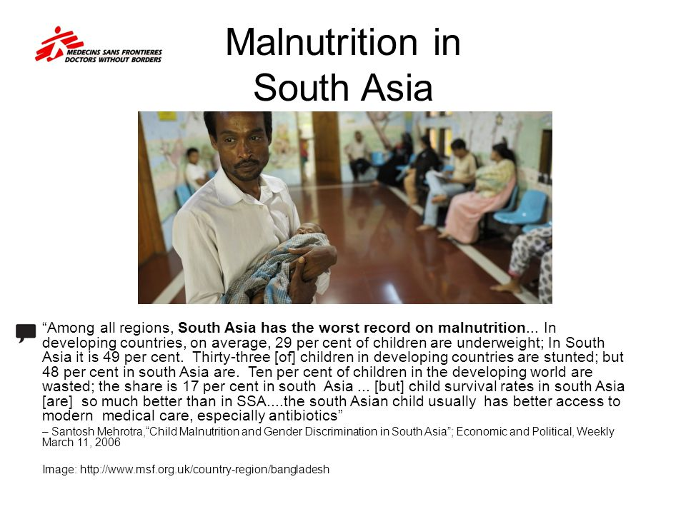 Malnutrition in South Asia