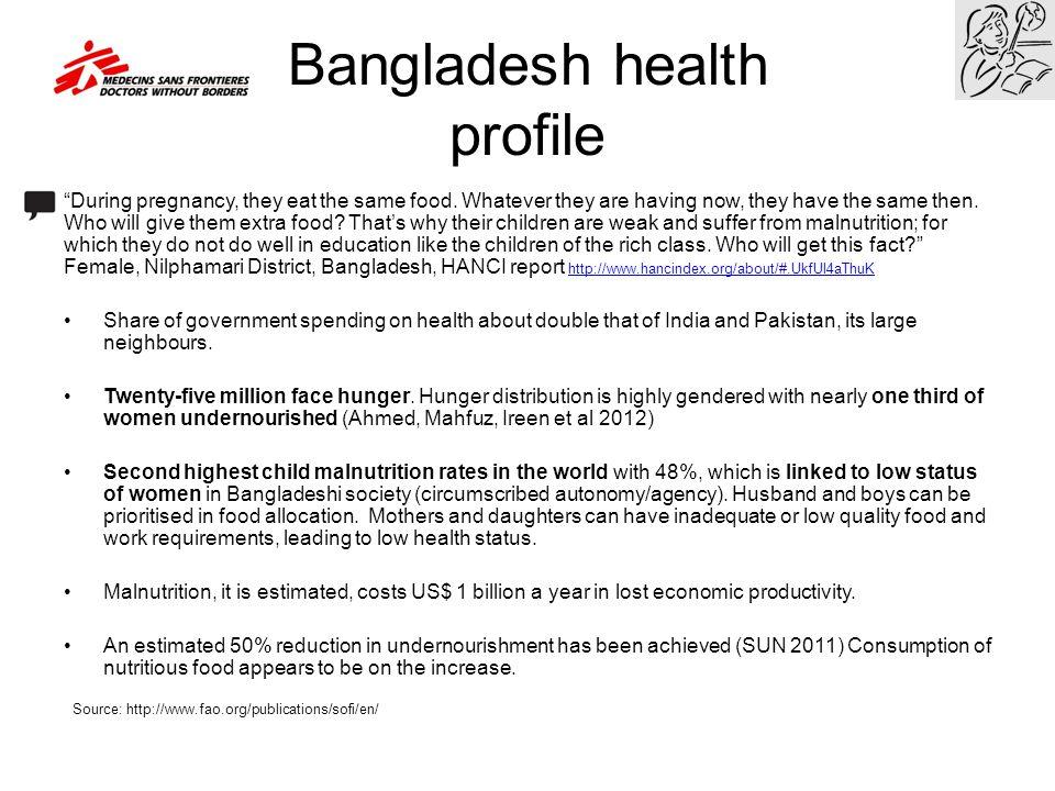 Bangladesh health profile