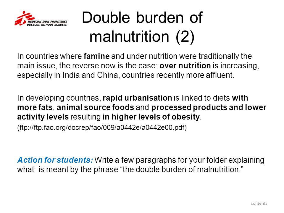 Double burden of malnutrition (2)