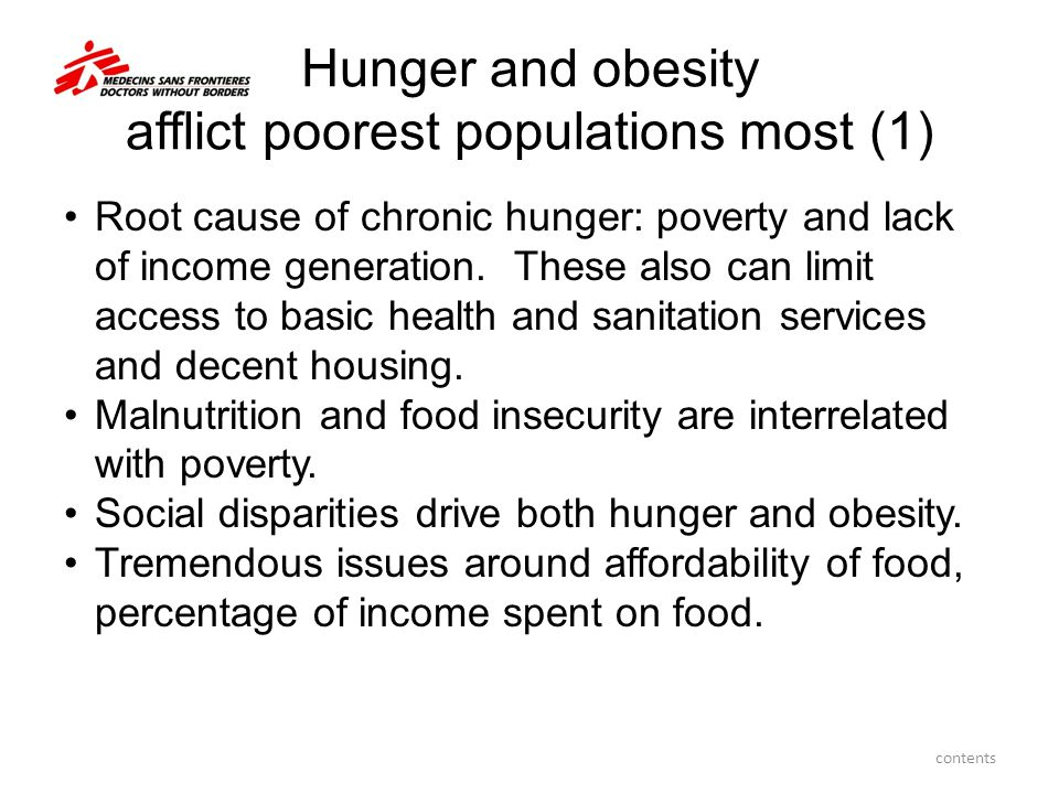 Hunger and obesity afflict poorest populations most (1)