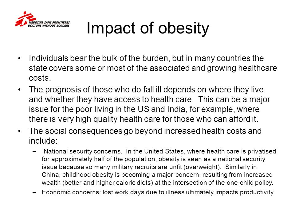 obesity and its impact on economic It examines the economic causes and consequences of obesity, the rationales for government intervention, the cost-effectiveness of various policies, and the need for more research funding topics.