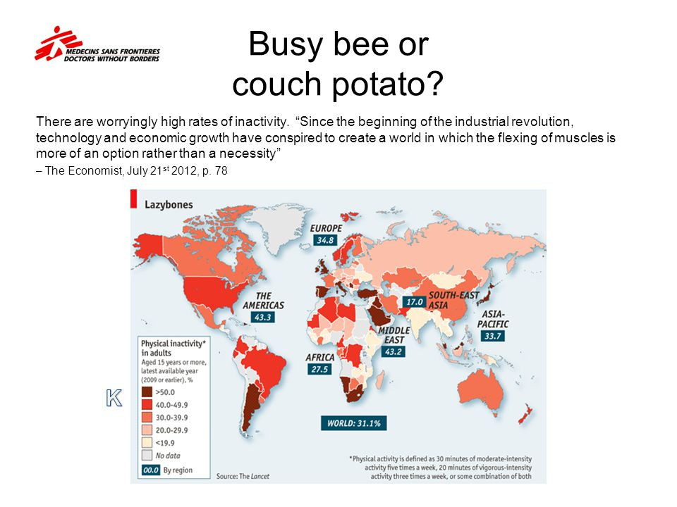 Busy bee or couch potato