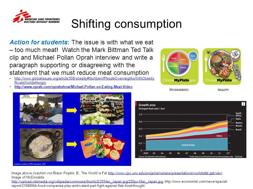 Shifting consumption
