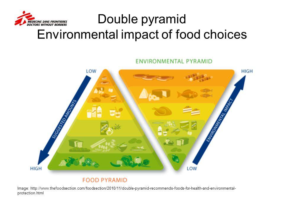 Double pyramid Environmental impact of food choices