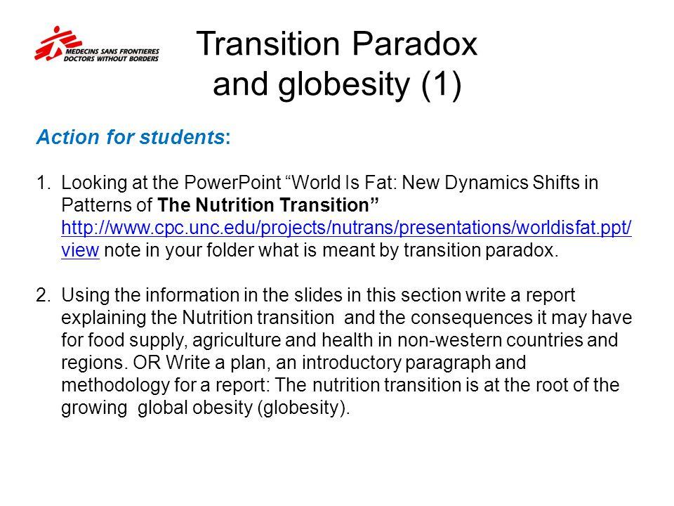 Transition Paradox and globesity (1)