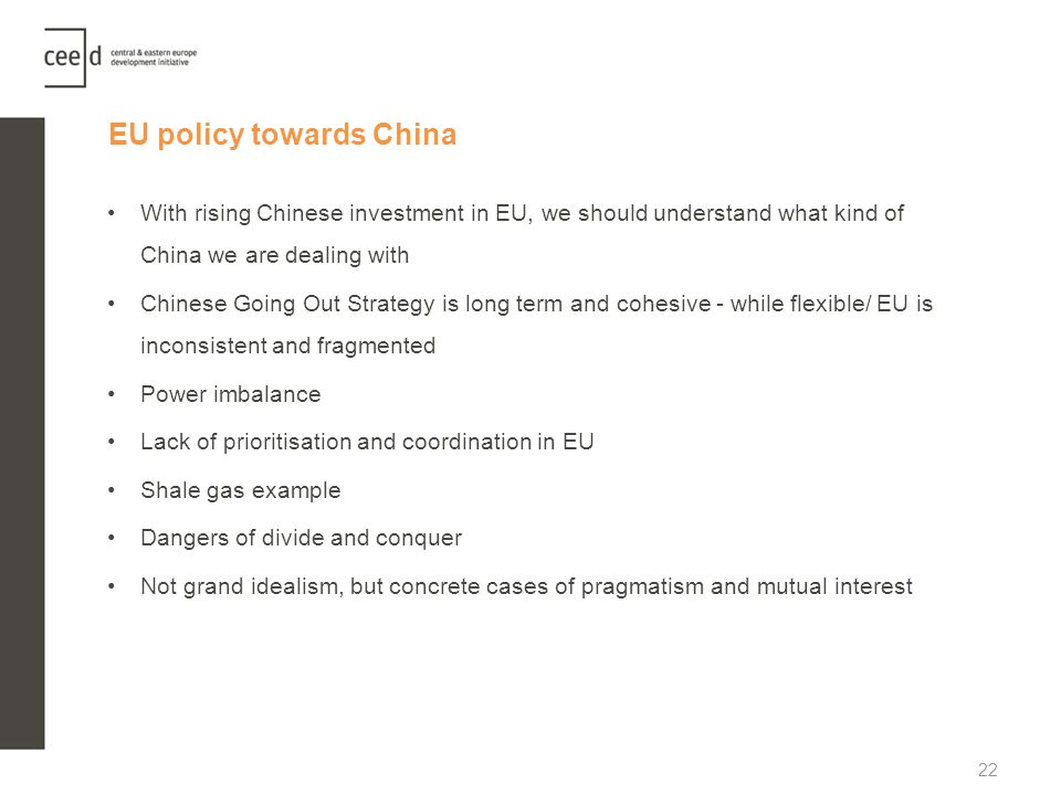 EU policy towards China