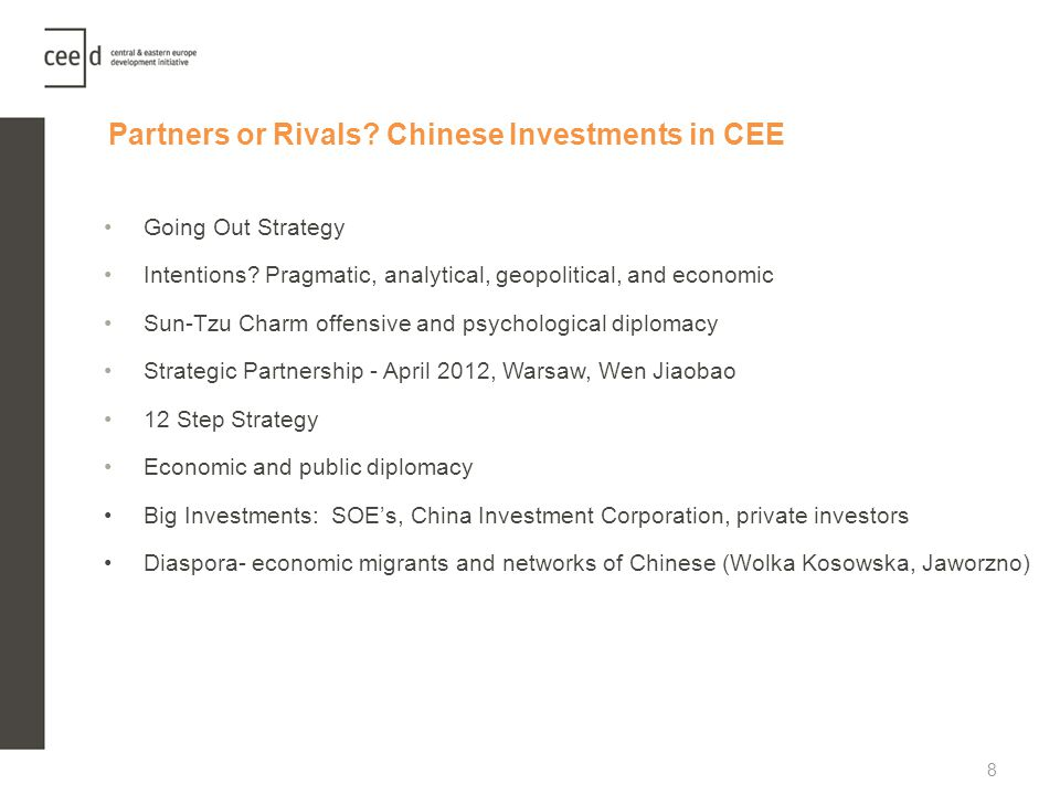 Partners or Rivals Chinese Investments in CEE