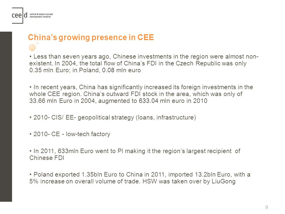 China's growing presence in CEE
