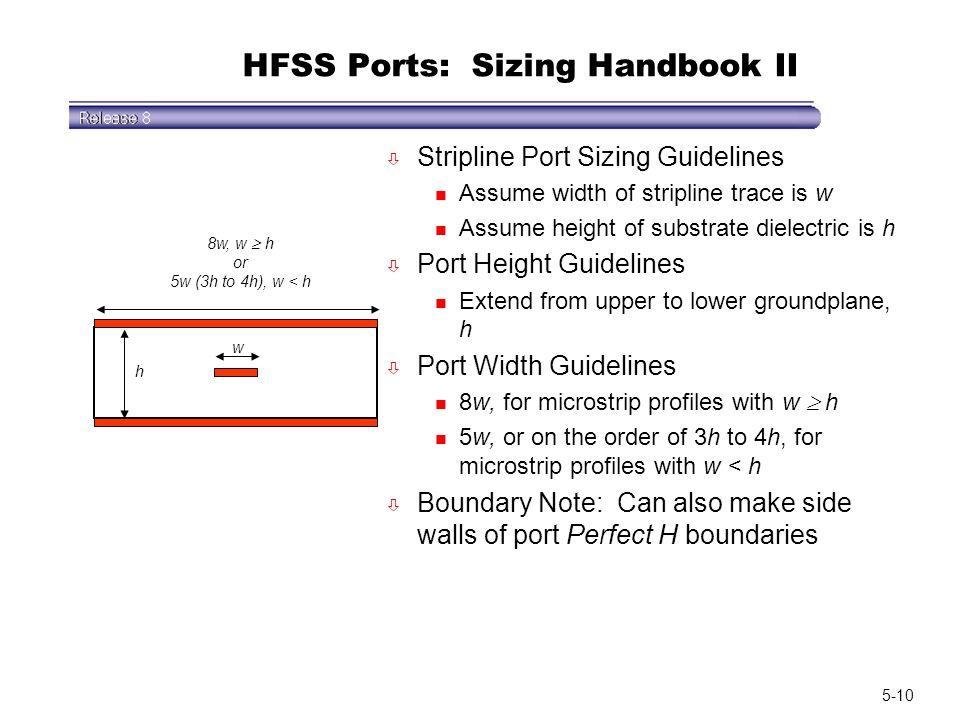 HFSS Ports: Sizing Handbook II
