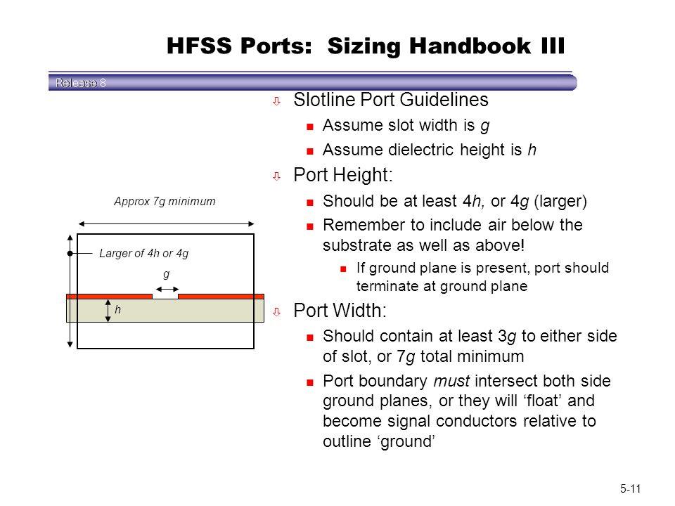 HFSS Ports: Sizing Handbook III