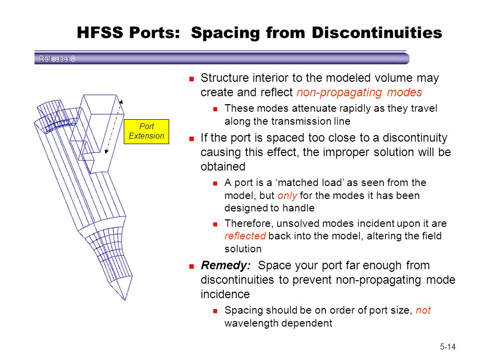 HFSS Ports: Spacing from Discontinuities