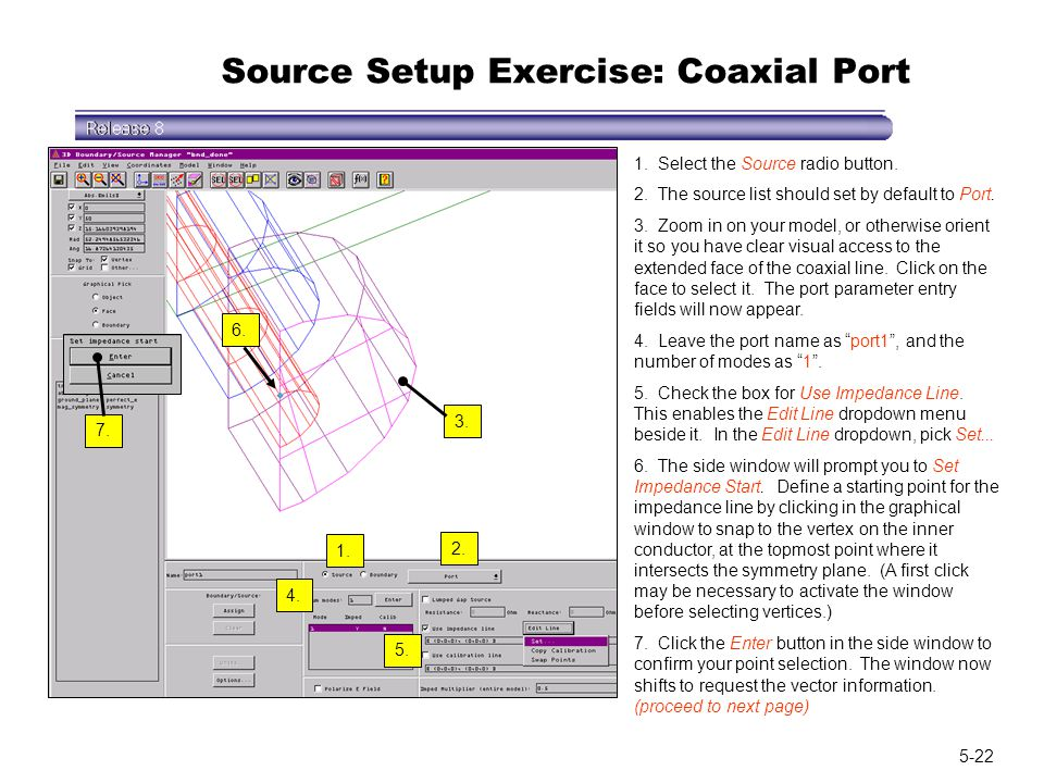 Source Setup Exercise: Coaxial Port