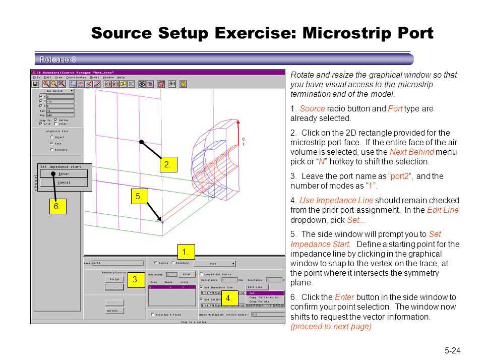 Source Setup Exercise: Microstrip Port