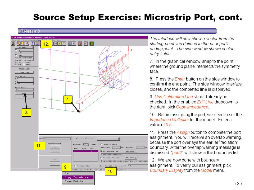 Source Setup Exercise: Microstrip Port, cont.