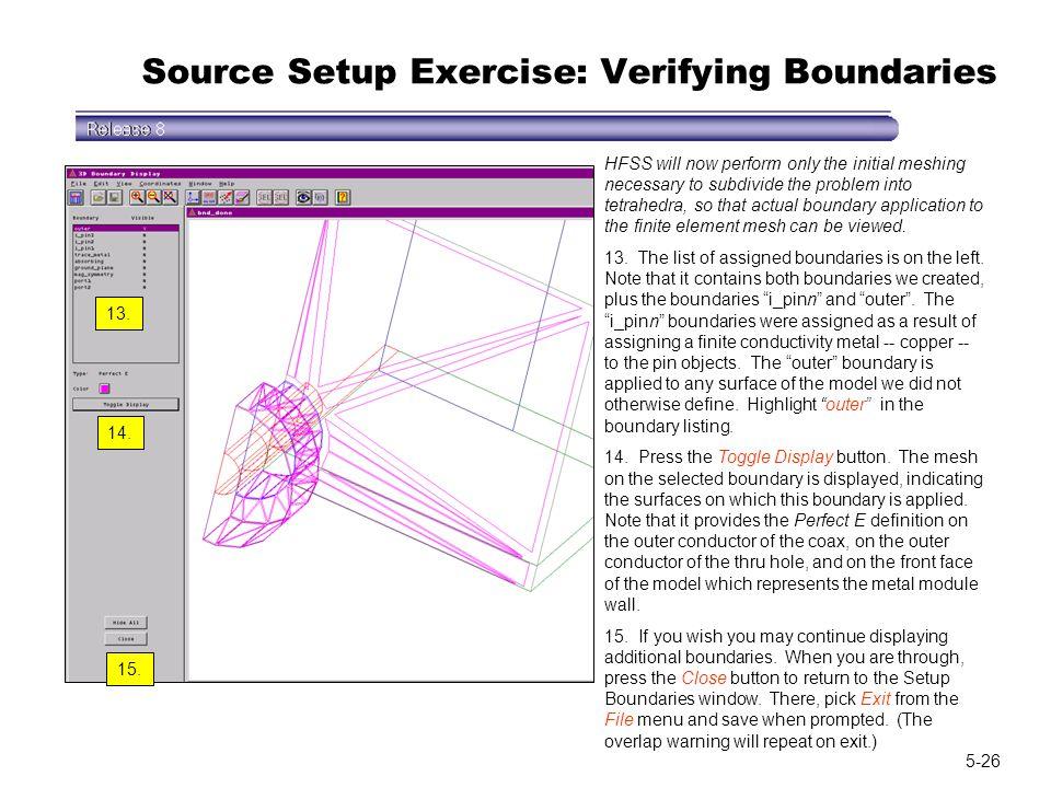 Source Setup Exercise: Verifying Boundaries