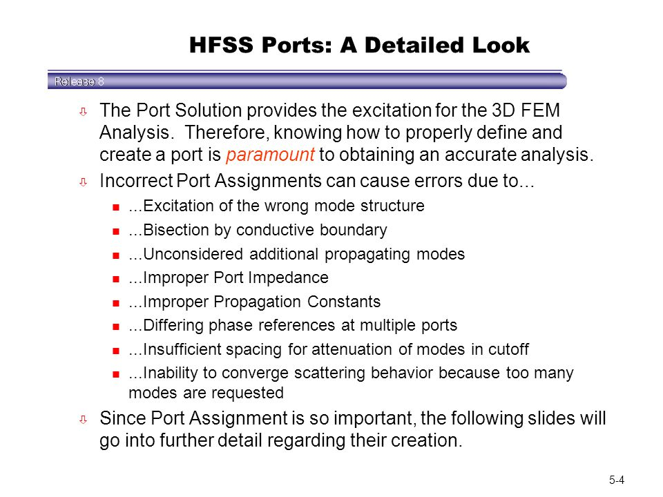 HFSS Ports: A Detailed Look