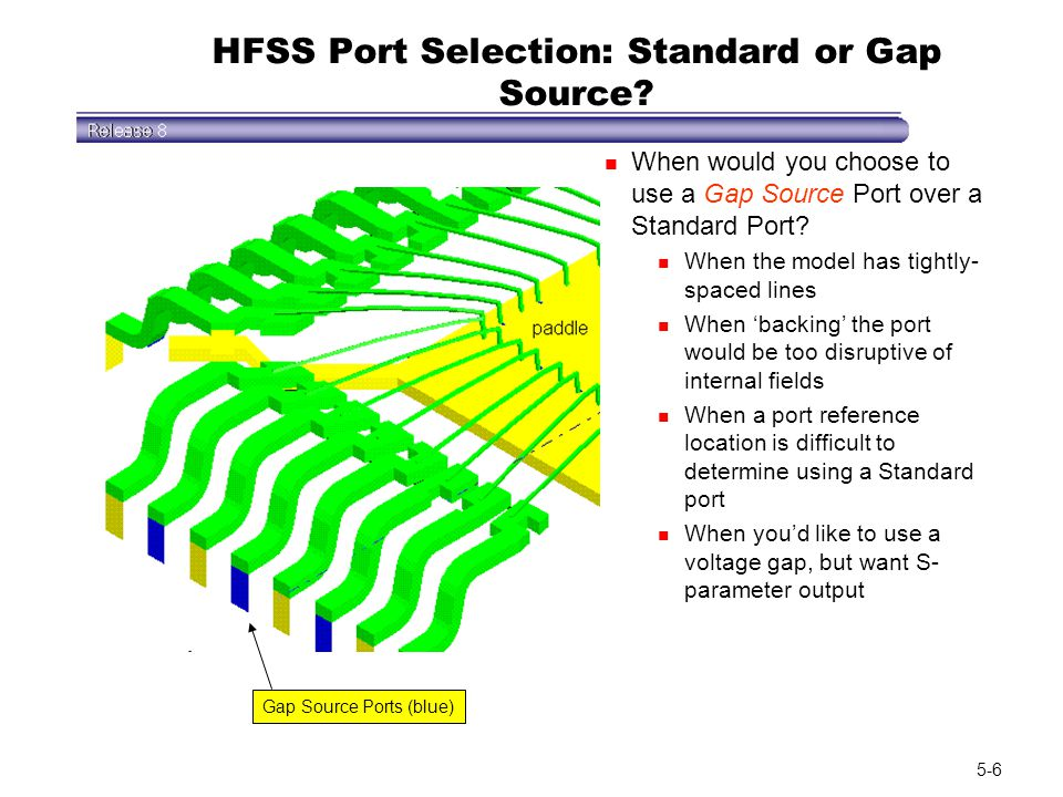 HFSS Port Selection: Standard or Gap Source