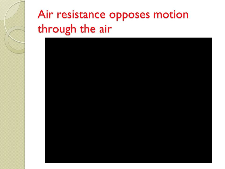 Air resistance opposes motion through the air