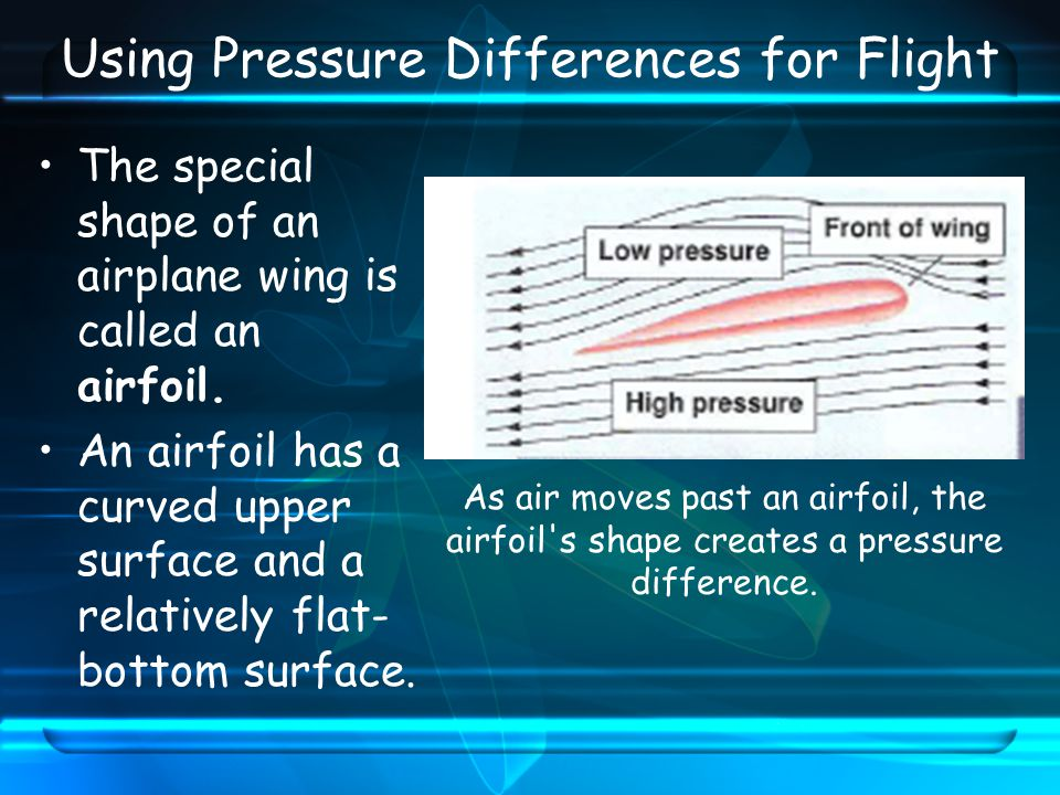 Using Pressure Differences for Flight