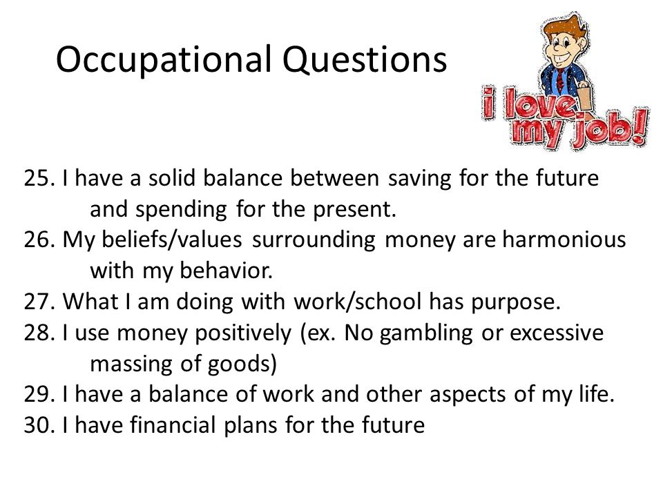 Occupational Questions