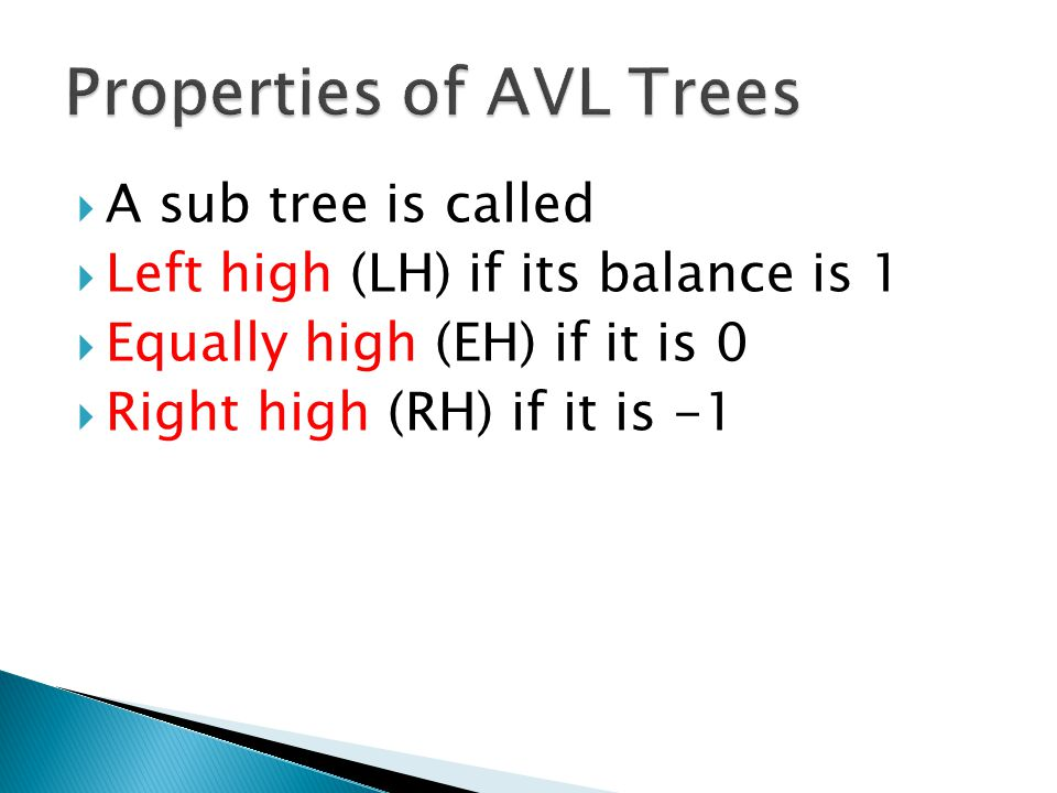 Properties of AVL Trees